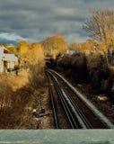 Train rails stock photo