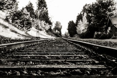 Train and rails Stock Photography