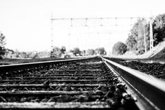 Train and rails Royalty Free Stock Photography