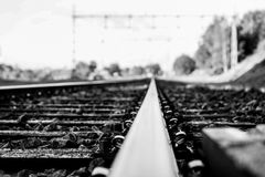 Train and rails Royalty Free Stock Photo