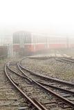 Train and railway Royalty Free Stock Photo