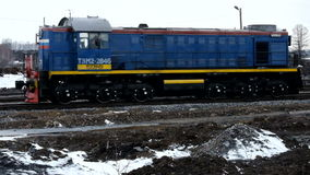 Train railway company. Railroad, train with coal at a coal plant in Siberia stock video footage