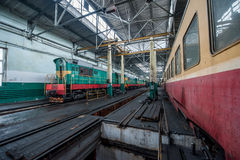 Train at a railway depot Royalty Free Stock Photography