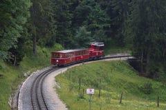 Schafberg Train. Salzskammergut royalty free stock photos