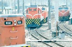 Train on the railway Stock Photography