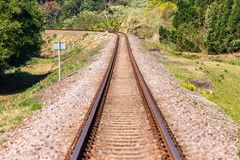 Free Train Railway Line Closeup Route Countryside Stock Images - 156897704