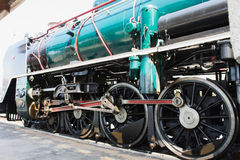 The Train. Railway locomotives green park maintenance Stock Images