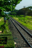 Train railway. So long railway ,in TThailand Royalty Free Stock Photos