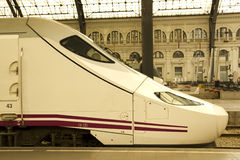 Train at railway station Stock Photography