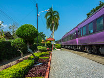 Train. Railway station and train from Thai Stock Photography