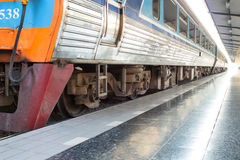 Train at railway station Royalty Free Stock Photo