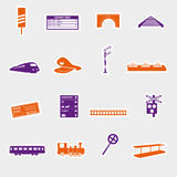 Train and railway stickers eps10 Stock Image