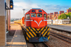 Train on the railway in Taiwan Royalty Free Stock Images