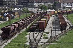 Train Railways in belgrade Royalty Free Stock Photography