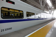 Train rapide chinois de CRH Photographie stock libre de droits