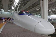 Train rapide chinois de CRH Photo libre de droits