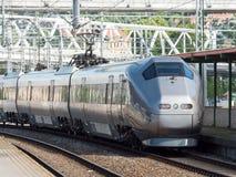 Train rapide d'aéroport à Oslo Photographie stock libre de droits