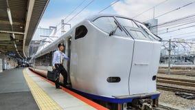 Train rapide d'aéroport de Haruka Photo stock