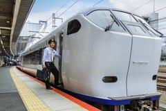 Train rapide d'aéroport de Haruka Images stock