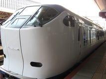Train rapide d'aéroport de Haruka Photographie stock