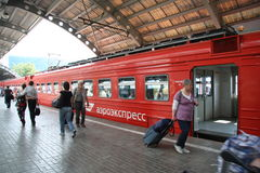 Train rapide de Domodedovo Photo stock