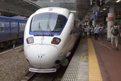 Train rapide de 885 Intercity Limited Photographie stock