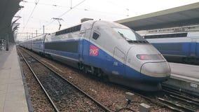 Train rapide de la SNCF images libres de droits