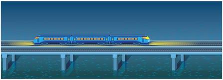 Train rapide de nuit Photos libres de droits