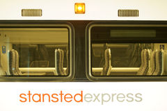 Train rapide de Stansted Images stock