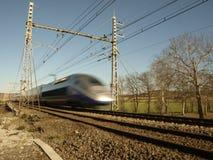 Train rapide du Français TGV Photo stock