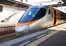Train rapide japonais à la plate-forme Images libres de droits