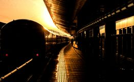 Train ready for departure royalty free stock photo