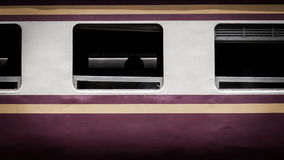 Train. Rectangular window of a train in Thailand Royalty Free Stock Image