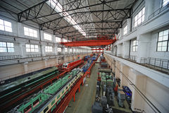 Train repair factory Royalty Free Stock Image