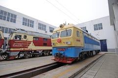 Train repair shop Royalty Free Stock Image