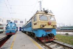 Train repair shop Stock Photography