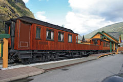 Train restaurant. A train restaurant in Flam - Norway Royalty Free Stock Photo