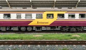 Train restaurant bogie Stock Images