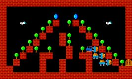 Train, retro style game pixelated graphics. Train, retro old style game pixelated graphics Royalty Free Stock Image
