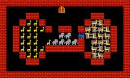 Train, retro style game pixelated graphics. Train, retro old style game pixelated graphics Stock Image