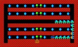 Train, retro style game pixelated graphics. Train, retro old style game pixelated graphics Stock Photos