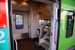 Train régional le Rhône Alpes - la SNCF Image libre de droits