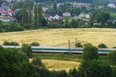Train ridden landscape Royalty Free Stock Image