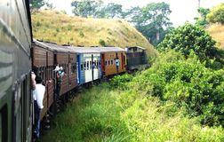Train ride in central Sri Lanka Royalty Free Stock Photography