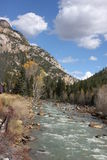 Train ride from Durango Colorado. This picture was taken from the Train going from Durango to Silverton Colorado in October 2017 Royalty Free Stock Image
