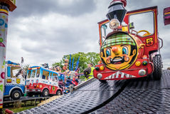 Train ride on a funfair Stock Image