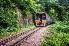 Train rides on Burma railway royalty free stock image
