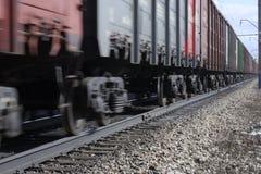 Train rides on rails Stock Image