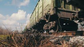 Train Rides on Rails stock video