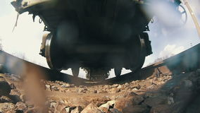 Train Rides on Rails stock video footage